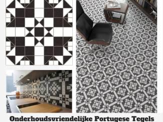 Worldparks Harrow Portugese Tegels Zwart Wit 30x30 cm