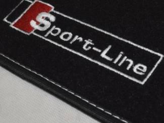 Audi A6 C6 Velours automatten met logo SPORT LINE