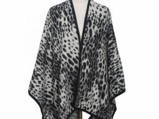 Nieuwe warme panter cape/omslagdoek