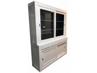 Witte design buffetkast binnen grijs 200cm breed