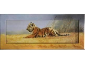 Doorgeschilderd Schilderij Tijger Tijgers
