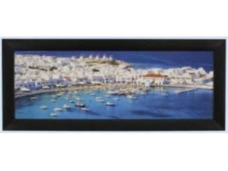 Schilderij Mykonos Griekenland Glossy