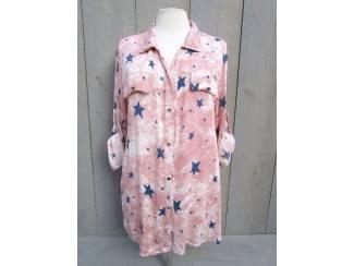 Roze sterren blouse