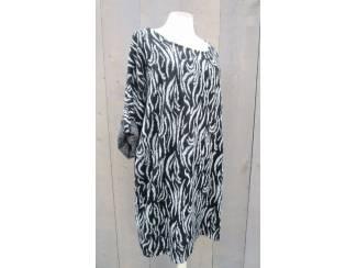 Gebreide zebra trui