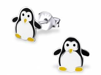 Zilveren oorbellen pinguin