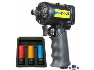 """1/2"""" Slagmoersleutel Paoli DP 1050 met krachtdoppen set WT-3147"""