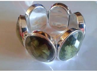 'Trippelstone' Modern Bracelet / Rekbaar