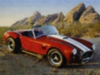 Poster Oldtimer Rode Shelby Cobra Oldtimers Auto