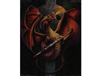 Draak met Celtic Kruis Poster