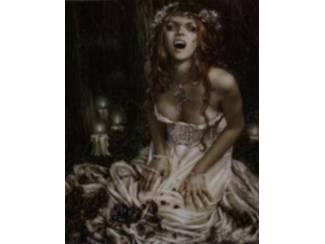 Gothic Poster Vampire Girl van Victoria Frances