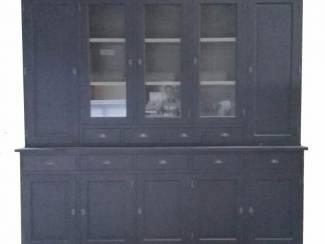 Buffetkast Lelystad zwart - grijs 280 x 50/40 x 235cm