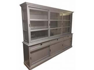 Buffetkast Sneek grijs - grijs 300 x 50/40 x 220cm