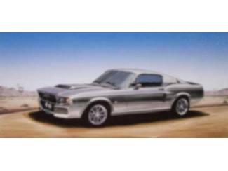 Schilderij Route 66 Ford Mustang