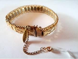 Gold Chain Snake Bracelet  polsmaat 18/22cm