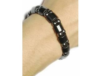 Black Magnetic Hematite Bracelet Zwarte Magnetische Hematiet Armb