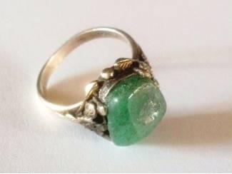 Vintage Zilveren Ring met Aventurijn