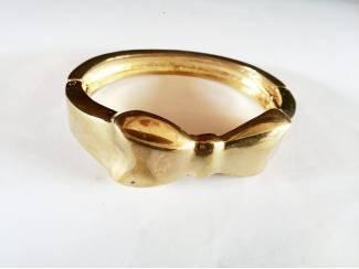 Goldplated dames armband/ strik model