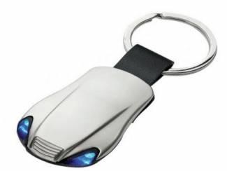 Accessoires en Tuning Sleutelhanger gegraveerd dubbele blauwe LED met logo