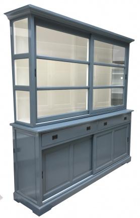 Buffetkast blauw - wit 210 x 50/40 x 210cm