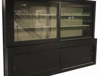 Buffetkast Diemen zwart - grijs strak design 300cm