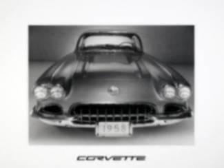 Corvette Corvettes Auto Poster (A)