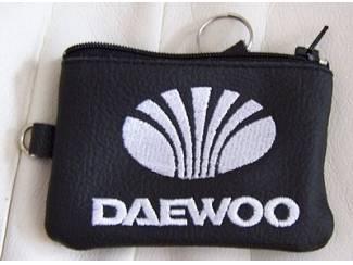 Lederen sleutelhoesje, met DAEWOO logo