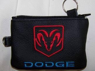 Lederen sleutelhoesje, met DODGE logo