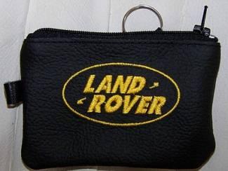 Echt leder borduurwerk sleutelhoesje met logo LAND ROVER
