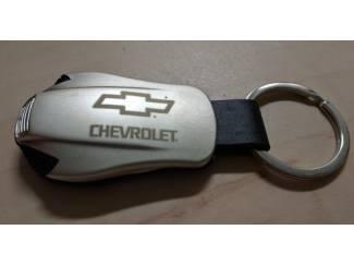 Chevrolet Sleutelhanger gegraveerd met dubbele blauwe led