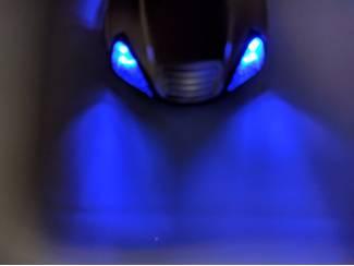 Overige Merken onderdelen Morgan Sleutelhanger gegraveerd met dubbele blauwe led