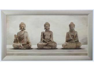 Boeddha Drie Eenheid Schilderij Boeda Boeddha Budda Buddha