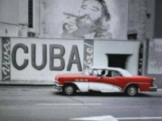 Poster Oldtimer Cuba Che Guevara Buick Fidel Castro