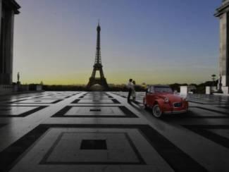 Eiffeltoren Parijs Citroën 2CV Lelijk Eendje Poster (GA)