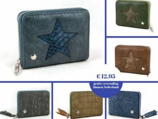 Portemonnees met ster  in verschillende kleuren