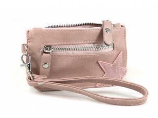 Kleine zak portemonnee met ster- roze