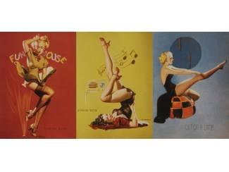 Pin Up Girl Girls Fifties Fun House Retro Schilderij