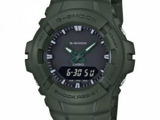 Grijs-groen analoog-digitaal horloge