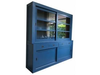 Winkelkast design Hasselt blauw 220cm breed