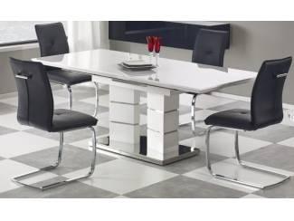 Moderne uitschuifbare eettafel Lord Hoogglans wit NU 699 NIEUW