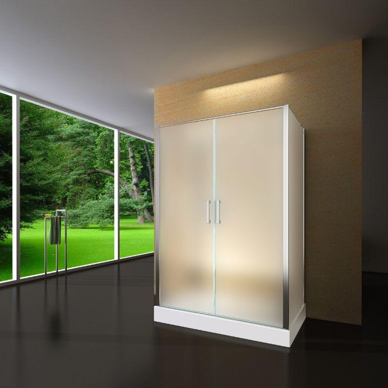 Sanifun douchecabine Scevola 120 x 80 HT mat glas.