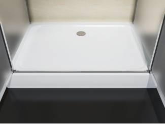 Badkamer Sanifun douchecabine Scevola 120 x 80 HT mat glas.