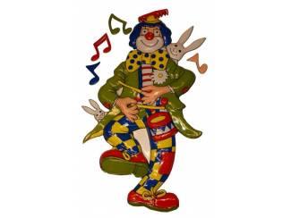 """Decoratie """" Clown met trommel """""""