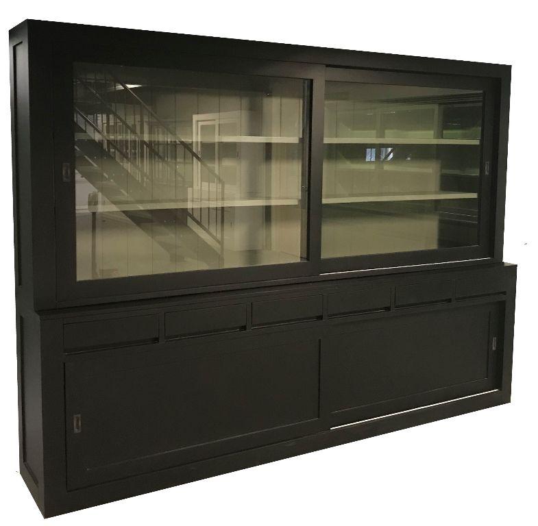Zwarte design buffetkast greeploos grijs binnen 300cm breed