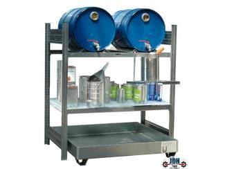 Vloeistof opvang & afgifte rek 2 x 60L AFP 1050/1
