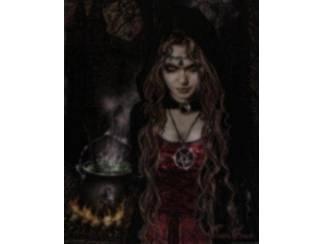 Poster Gothic Cauldron of heksenketel van Victoria Frances