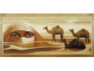 Arabisch Ogen Woestijn Oase Karavaan Schilderij