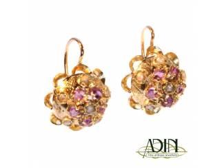 Antieke victoriaanse oorbellen van goud