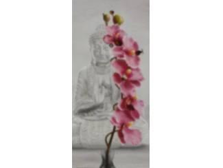 Orchidee Witte Boedha Boeddha Buddha Budha Buda Schilderij