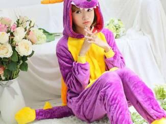 Spyro de draak /The Dragon Onesie Volwassenen (maat S,M,XL)