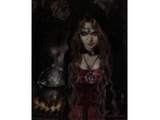 Gothic Poster Cauldron of heksenketel van Victoria Frances